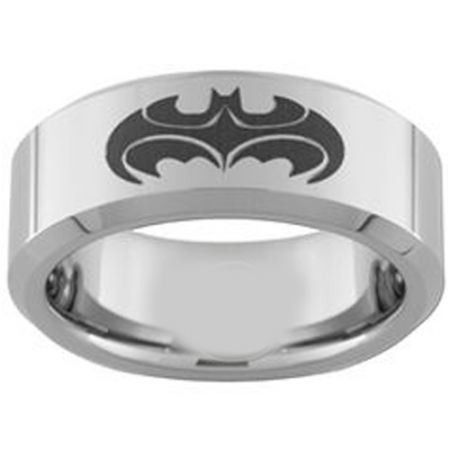 COI Titanium Batman & Robin Pipe Cut Flat Ring - 3957