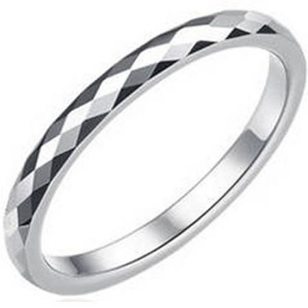 COI Titanium Faceted Wedding Band Ring - JT3846